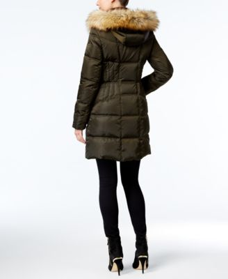 Vince Camuto Faux-Fur-Trim Hooded Puff..
