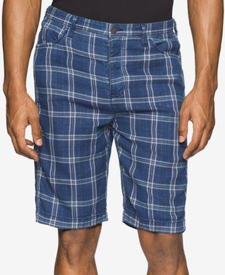 Calvin Klein Jeans Mens Plaid Shorts