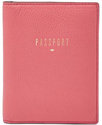 Fossil Leather RFID Passport Case