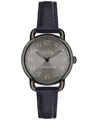 COACH Women's Delancey Blue Leather Strap Watch 28mm 14502610