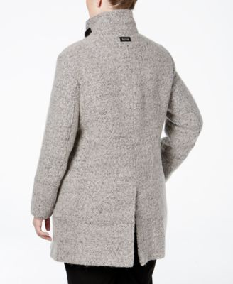 Calvin Klein Plus Size Asymmetrical Funnel-Collar Walker Coat