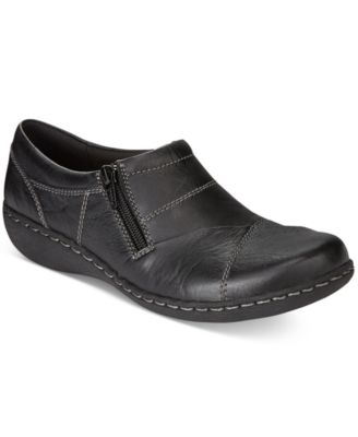 Clarks Womens Fianna Ellie Side-Zip Fl..