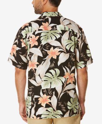 Cubavera Mens Tropical Short-Sleeve Shirt