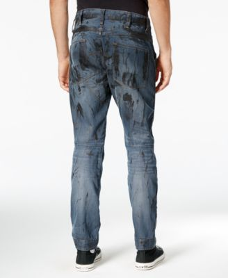 G-Star RAW Mens 5620 Tapered Splatter Jeans