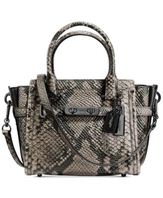 COACH Swagger 21 Carryall in Snake- Embossed Leather