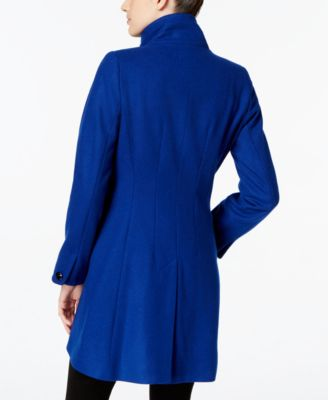 CeCe by Cynthia Steffe Stand-Collar Tulip-Hem Walker Coat