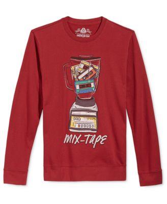 American Rag Mens Mix Tape Graphic-Print Sweatshirt