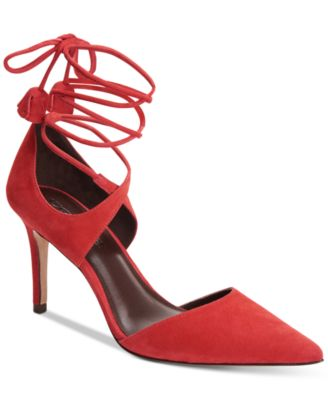 COACH Shae Lace-Up Pointy Pumps