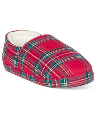Family Pajamas Boys or Girls Brinkley Plaid Slippers
