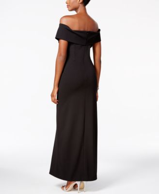 MSK Off-The-Shoulder Gown