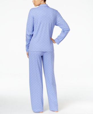Charter Club Satin-Trimmed Printed Pajama Set