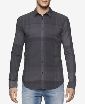 Calvin Klein Jeans Mens Exploded Plaid..