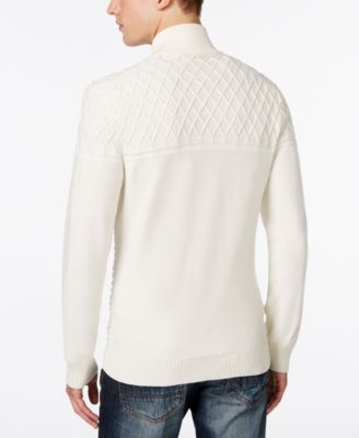 INC International Concepts Mens Full-Zip Multi-Textured Sweater