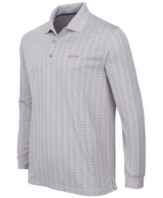 Greg Norman for Tasso Elba Mens Big & Tall Long-Sleeve Striped Polo