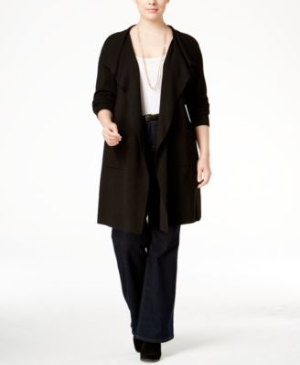 INC International Concepts Plus Size Draped Duster Cardigan, Only at Macy's