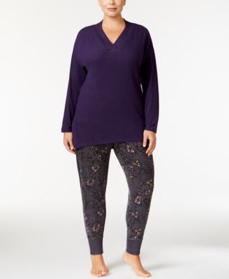 Alfani Plus Size V-Neck Pajama Top