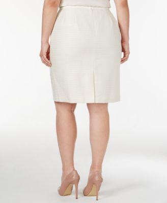 Calvin Klein Plus Size Sequined Tweed Pencil Skirt