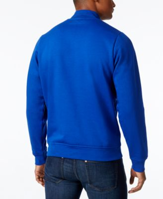 Lacoste Mens Quarter-Zip Colorblocked ..