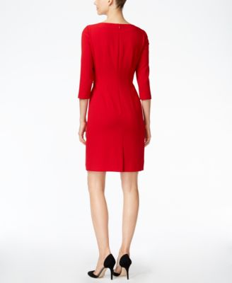 Tahari ASL Embellished Sheath Dress