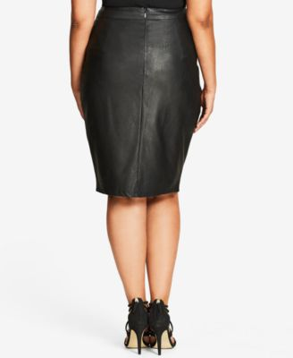 City Chic Trendy Plus Size Faux-Leathe..