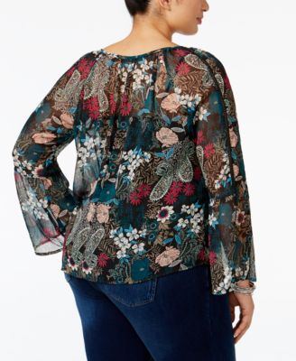 American Rag Trendy Plus Size Floral-P..