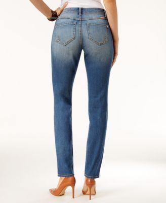 INC International Concepts Curvy Gardenia Wash Skinny Jeans