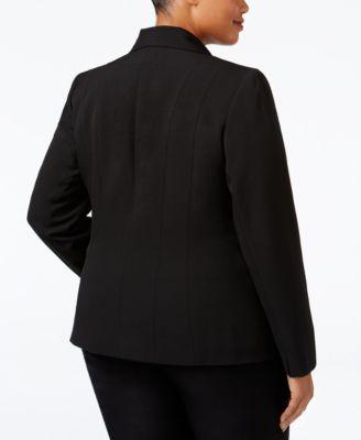 Kasper Plus Size Crepe One-Button Jacket