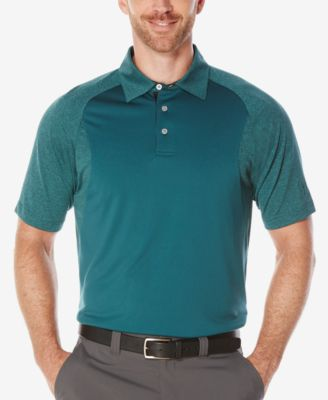 PGA Tour Mens Heathered Colorblocked P..