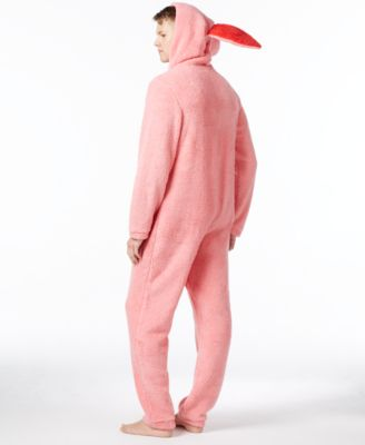 Briefly Stated Mens Ralphies Bunny Suit Hooded One-Piece Pajamas