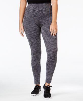 Ideology Plus Size Space-Dyed Lined Leggings, Only at Macy's