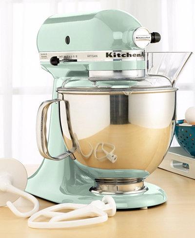 Kitchenaid ksm150ps artisan 5 qt stand mixer mixers accessories kitchen macy 39 s - Kitchen aid artisan accessories ...