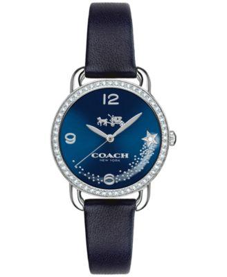COACH Women's Delancey Blue Leather Strap Watch 28mm 14502668