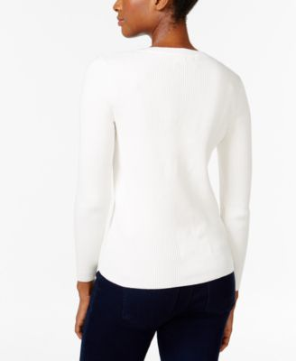 Karen Scott Petite V-Neck Sweater