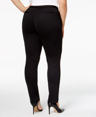 Calvin Klein Plus Size Straight-Leg Sc..