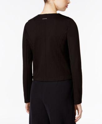 Armani Exchange Faux-Fur Mixed-Media Jacket