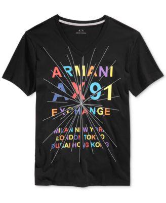 Armani Exchange Mens Graphic-Print T-S..