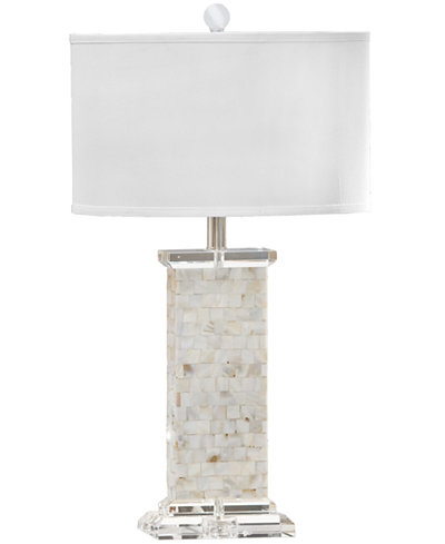 Regina Andrew Crystal Mother Of Pearl Column Table Lamp