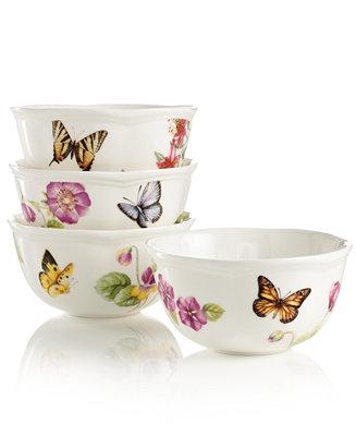 Lenox Dinnerware Butterfly Meadow Bloom Assorted Bowls