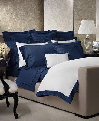 Ralph lauren langdon border bedding collection 624 thread for Pima cotton comforter