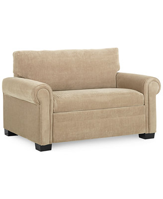 """Radford Sofa Bed Twin Sleeper 56""""W x 40""""D x 35""""H Furniture Macy s"""