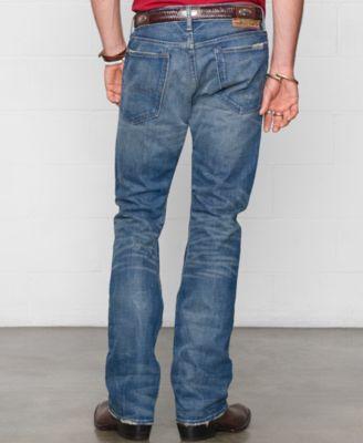 Denim & Supply Ralph Lauren Mens Bootcut Traverse-Wash Jeans
