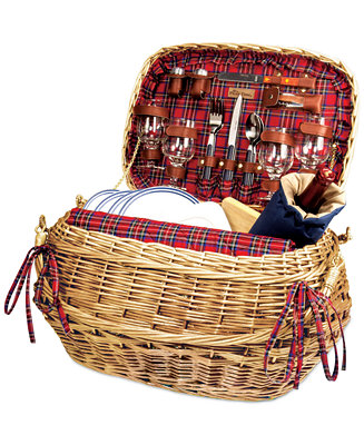 Picnic Time Red Highlander Picnic Basket Macy S