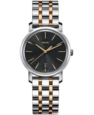 Rado Womens Swiss DiaMaster Two-Tone Stainless Steel Bracelet Watch 33mm R14089163