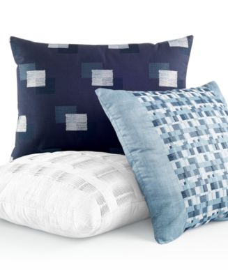 Hotel Collection Mulberry Decorative Pillows : Hotel Collection Colonnade Blue Decorative Pillow Collection - Decorative & Throw Pillows - Bed ...