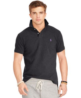 Polo Ralph Lauren Classic Fit Stretch Mesh Polo Shirt In Black ... abc87c3da59b