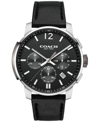 COACH MEN'S CHRONOGRAPH BLEECKER BLACK LEATHER STRAP WATCH 42MM 14602014, ONLY AT MACY'S