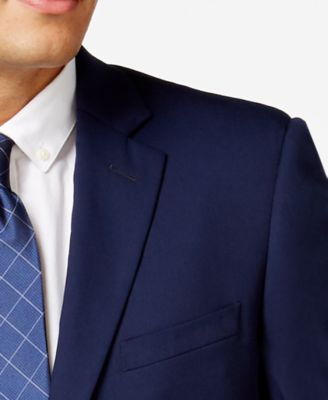Perry Ellis Portfolio Blue Twill Slim-..