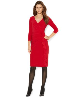 American Living Matte-Jersey Ruched Su..
