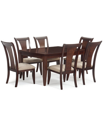 Metropolitan 7 Pc Contemporary Dining Set Table 6 Side Chairs Only