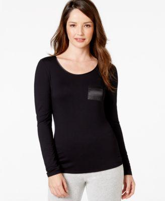 Alfani Long Sleeve Solid Top